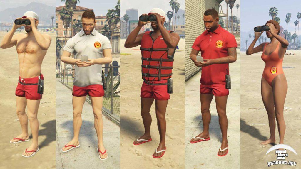 Spasioci (Čuvari plaže) u GTA 5